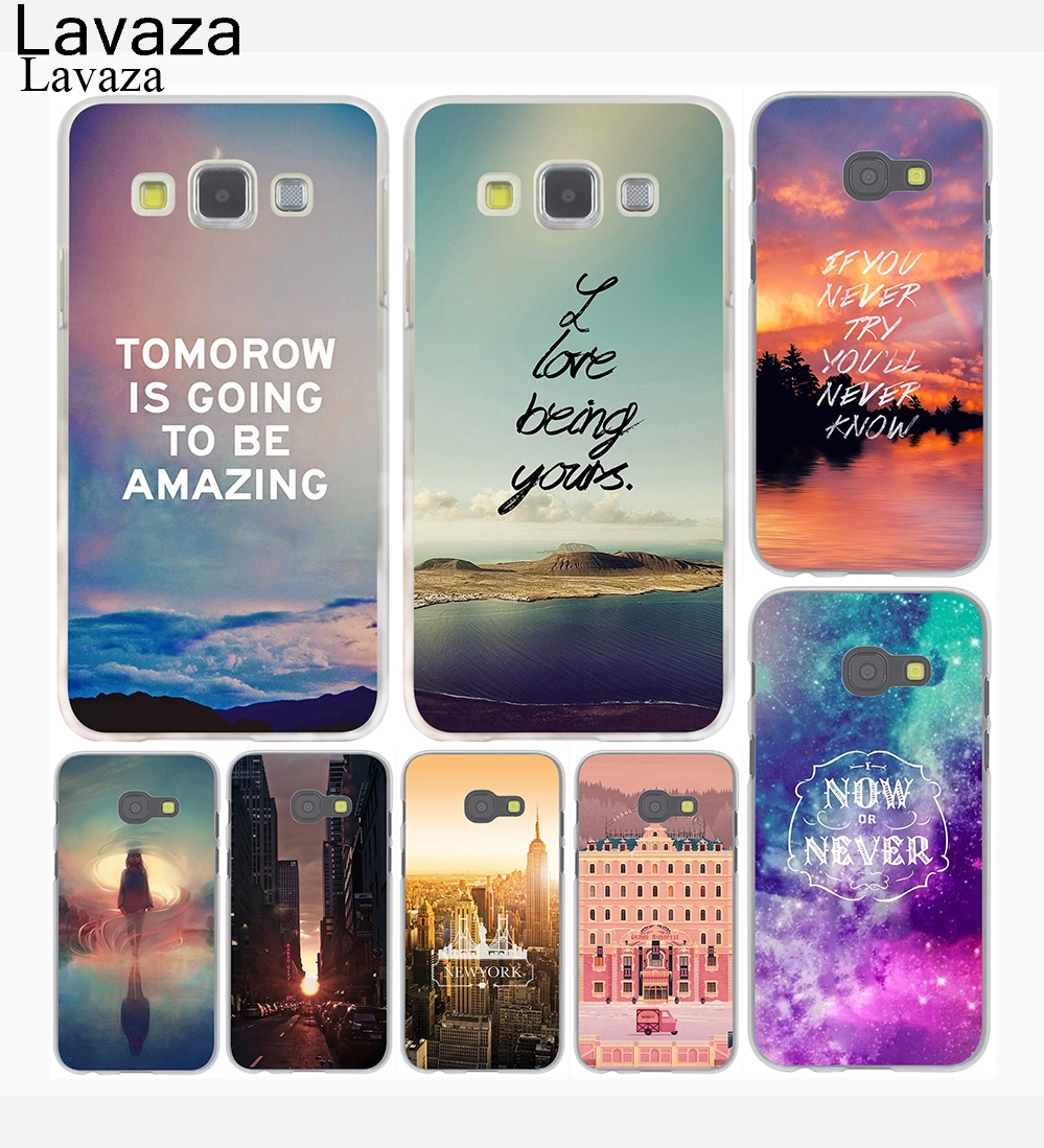 Lavaza Flowers Scenery City Painted Hard Phone Case for Samsung Galaxy A3 A5 J7 J3 J5 2015 2016 2017 Grand Prime Note 2 3 4 5
