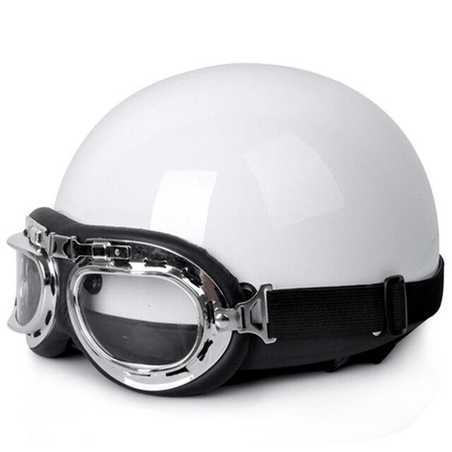 Hot Selling Capacete Motorcycle Helmets Motos Motorcycle Open Half Face Racing Helmet Motorbike Goggles