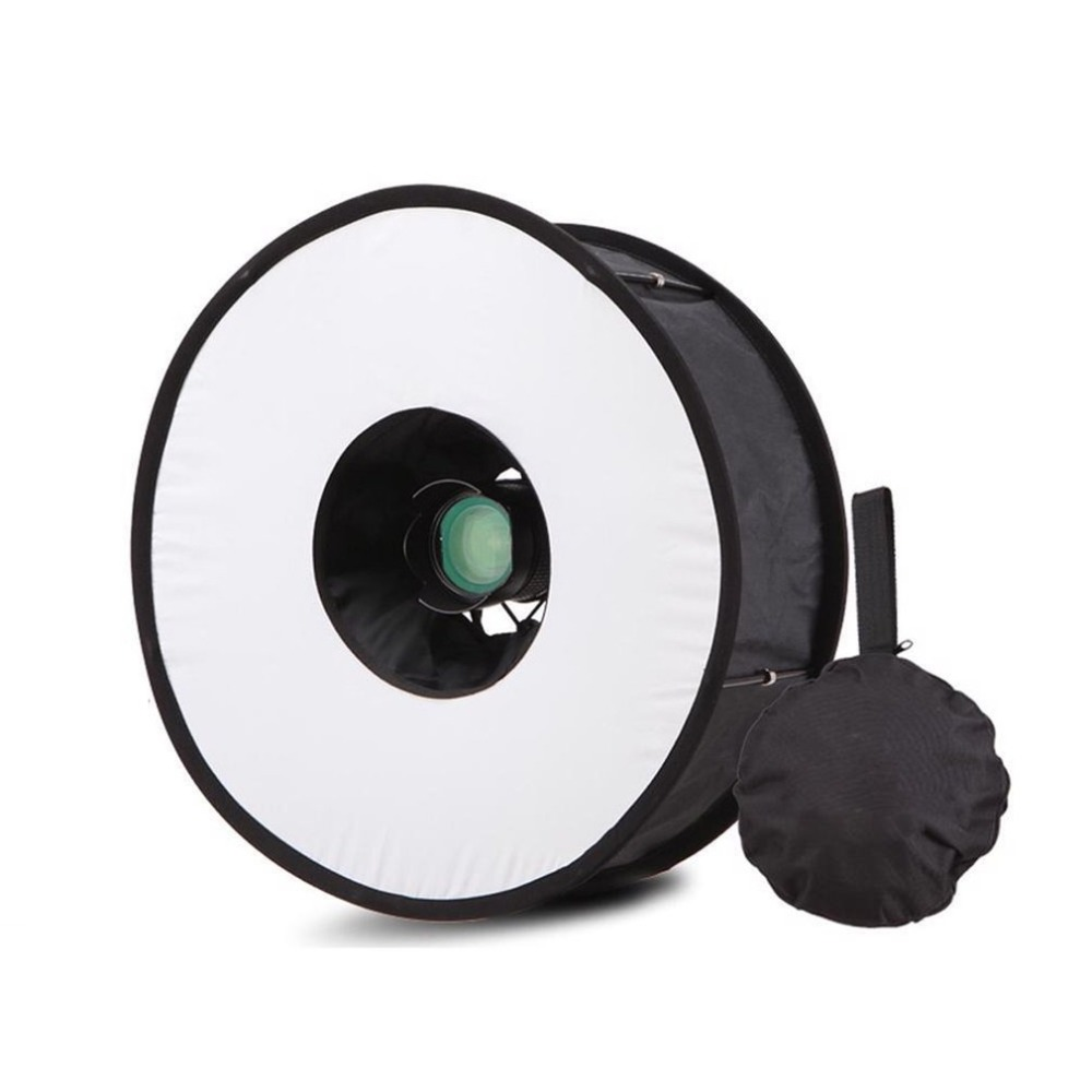 Ring Softbox Speedlight Round Style Flash Light Shoot Soft box Foldable Soft Flash Light Diffuser Cameras in Flash Diffuser from Consumer Electronics