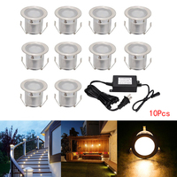 YWXLight Outdoor Ground Lamps Waterproof Multi Use Stair Buried Night Lights With Adapter Embedded Underground Lamp