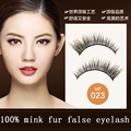 100% real mink fur eyelashes  3 pairs/lot high quality winged hand made sharpened eyelash extension makeup beauty free shipping