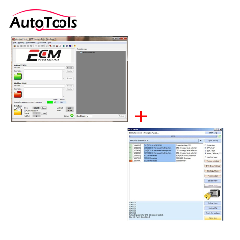Newest ECM TITANIUM With 18295 Driver +ECUSafe 2.0 ECU Programmer For Kess V2/ktag Car Diagnostic-tool Software