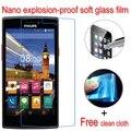 Protetor de tela de proteção de vidro nano à prova de explosão-macio lcd film para philips s337 v787 s308 s309 safira s616 xenium v377