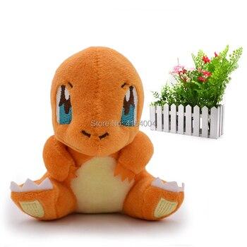 10 pcs/lot Anime Peluche Sitting Charmander Stuffed Plush Cartoon Dolls Great Christmas Gift Toy For Children