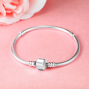 Image 5 - 100% Solid 925 Sterling Silver 16 23cm Long Snake Chain Bracelet Bangle Luxury Wedding Jewelry for Women Gift