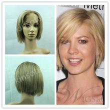 Lace Front Wig Small New Arrival 2017 Top Selling 10 Inch Bob 130% Density Human Hair Full Lace Wig Haircut Short Black Women