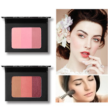Makeup blusher palette Easy to Wear professional blush 3 Colors Smooth
