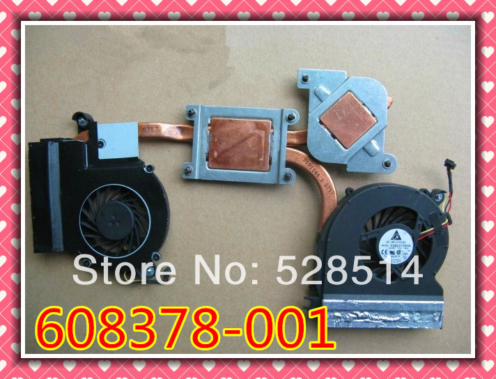 Original Laptop cooling fan with Heatsin fan for HP ENVY 14 608378-001 657529-001 free shipping