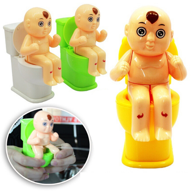 Funny Tricky Toy Mini Prank Squirt Spray Water Toilet Spoof Gadgets Toys Closestool Joke Gag Toy Gift Color Randomly