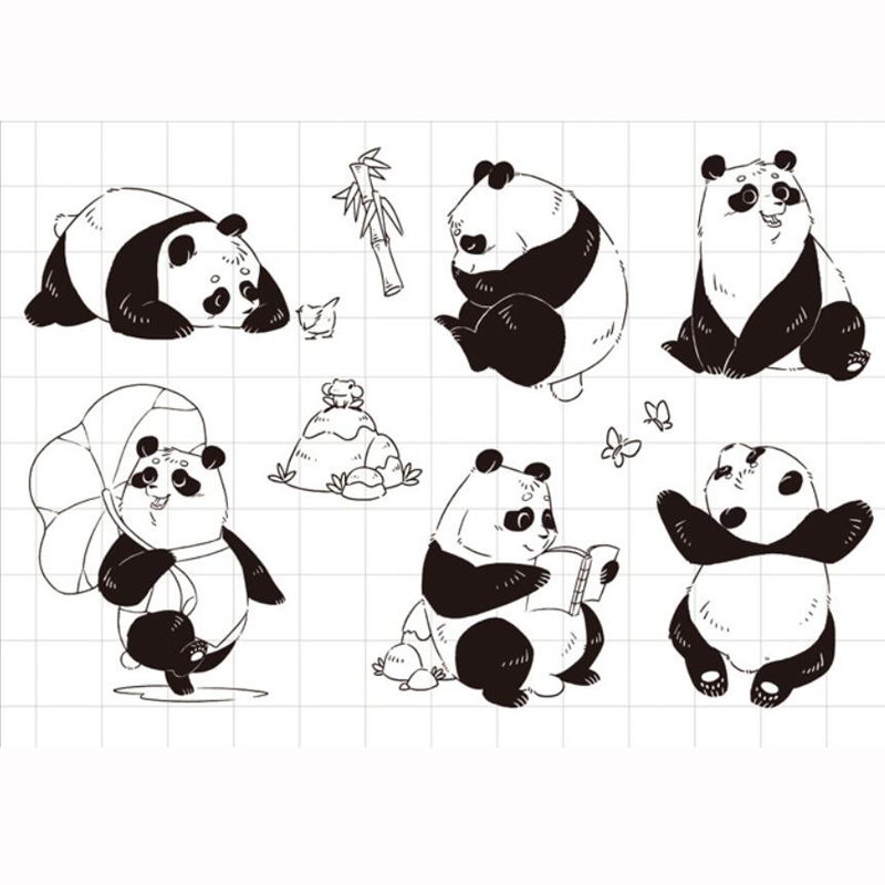 ZFPARTY Panda Transparent Clear Silicone Stamp/Seal for DIY scrapbooking/photo album Decorative card making lovely animals and ballon design transparent clear silicone stamp for diy scrapbooking photo album clear stamp cl 278