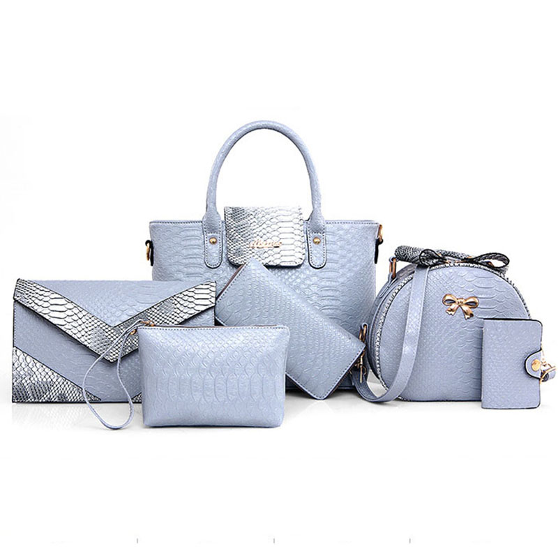 Six Sets Of Crocodile Pattern Bags Fashion Handbags Messenger Bag Luxury Handbags Women Bags Designer Clutch Bag High Quality