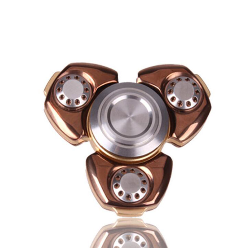 2017 New Metal Triangle Gyro Finger Spinner EDC Hand For Autism/ADHD Anxiety Stress Relief Focus Toys Gift Spinning Top SP#12 lol draven shuriken handspinner edc rotatable darts weapons model christmas gift de levin s hand spinner top game toys gift ow