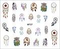 1 Hoja de Uñas MT27 Belleza Color Dream Catcher POP Nail Art Consejos Tatuaje de la Etiqueta engomada Para El Arte Del Clavo de Transferencia de agua Del Clavo de DIY herramienta