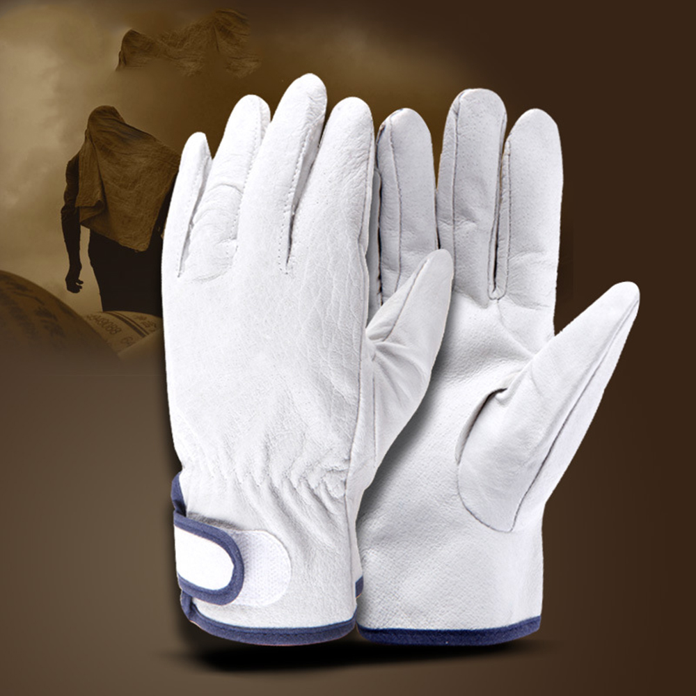 Welding Gloves Protective Welder Gloves Wear-resistant Gloves Short Two-layer Leather Thick Handling Working Glove MenWelding Gloves Protective Welder Gloves Wear-resistant Gloves Short Two-layer Leather Thick Handling Working Glove Men