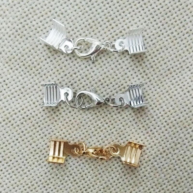 necklace bracelet flat leather cord crimp ends caps lobster clasp swivel hooks Velvet Ropes ...