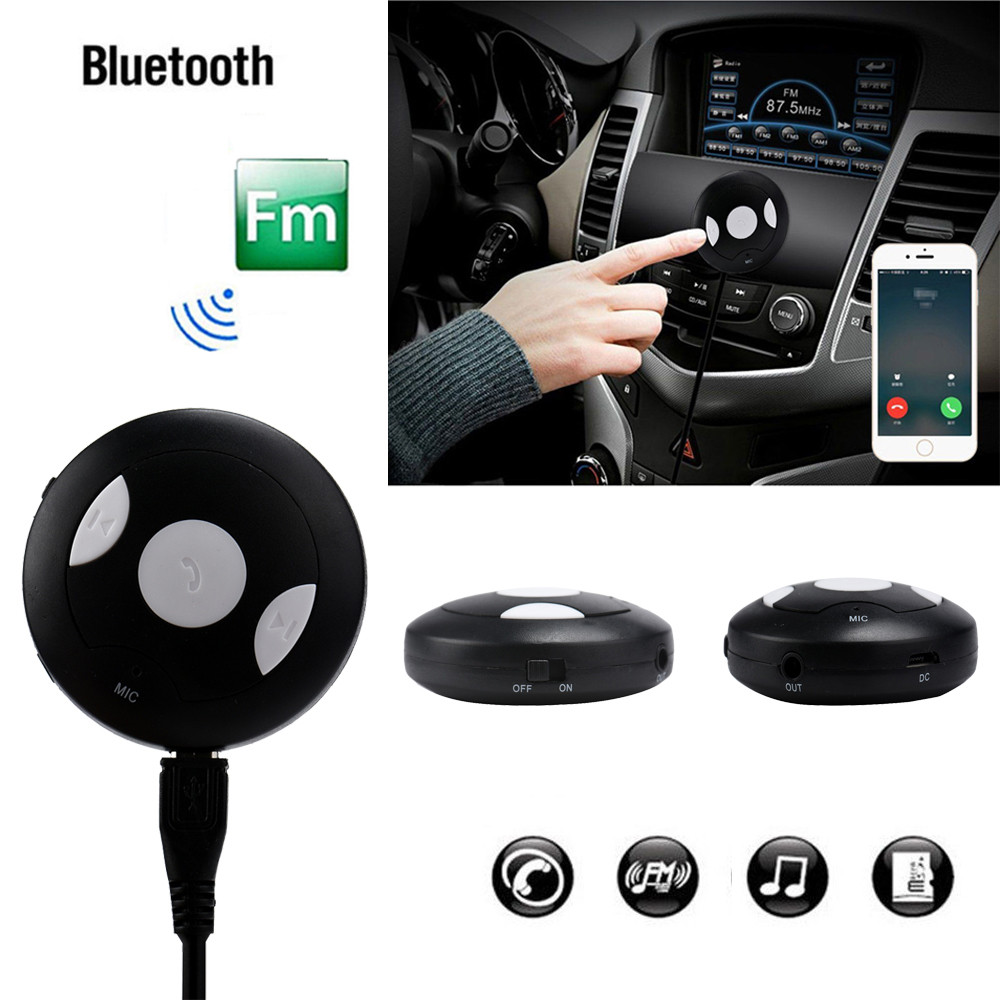 2018 hot sale fashion TS-BT35A09 Car Bluetooth V4.1 Handsfree Car Kit Bluetooth Music Receiver - Black very good