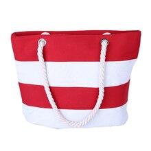 Strand Tragetasche Mode Streifen Druck Handtaschen Damen Große Umhängetasche Totes Lässig Tasche Einkaufstaschen