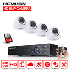 HCVAHDN 4CH HD 5MP Home Security Cameras System With Hard Drive and 4Pcs 5.0MP 2560*1920p Indoor Outdoor Dome CCTV Cameras Kits
