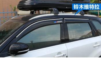 Autoruit regen vizier voor suzuki vitara, Chrome type, nieuwste dikkere versie, met suzuki logo, 4 stks