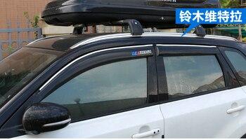 Pare-pluie de fenêtre de voiture pour suzuki vitara, type chromé, nouvelle version plus épaisse, avec logo suzuki, 4 pièces