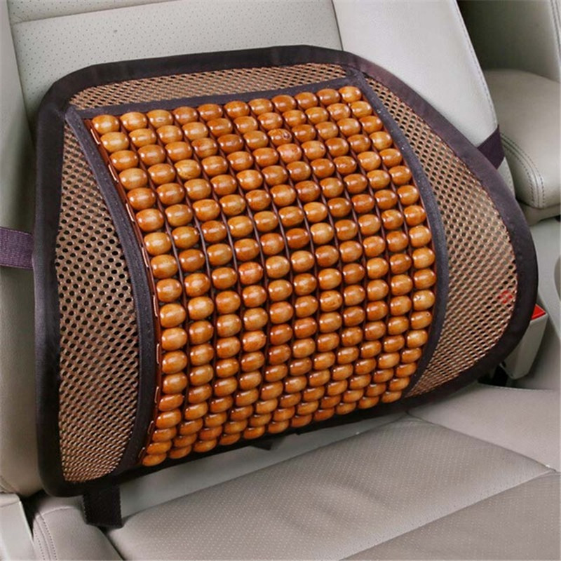Car Detector Seat Supports Luxury Wooden Bead Back Lumbar Support Cushion For Office Chair Pillow Massager Tools