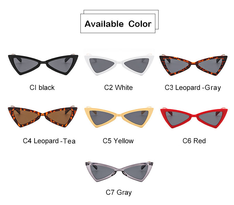 574ba36fa30c9 AiC 2018 New Cat Eye Mulheres óculos de Óculos de Sol Óculos de Sol  Triangular Moda pequeno quadro Óculos De Sol UV400. 5 6. 1 2 ...