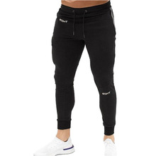 Pants Striped Running Men Sport Pencil Cotton Soft Bodybuilding Joggers Gym Trousers Tights