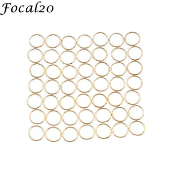 Focal20 50pcslot Alloy Punk Hair Braid Dread Dreadlock Circle Cuffs Clips Gold Color Circle Headwear Accessories circle