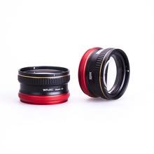 Weefine WFL05S + 13 étanche Macro lentille humide téléobjectif M67 monture pour Sony RX 100 caméra sous marine photographie