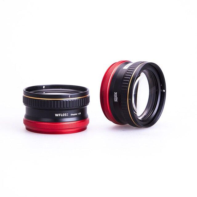 Weefine lente Macro WFL05S + 13 impermeable, lente de primer plano, montura M67 para cámara Sony RX 100, fotografía subacuática