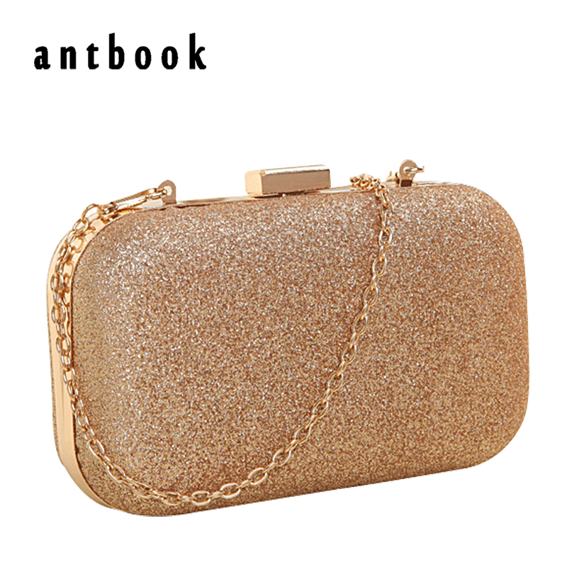 Large Size Women Handbag Evening Bags For Party New Women Chain Shoulder Bag Ladies Fashion Gold Clutch Box Bag  Women Messenger(China)
