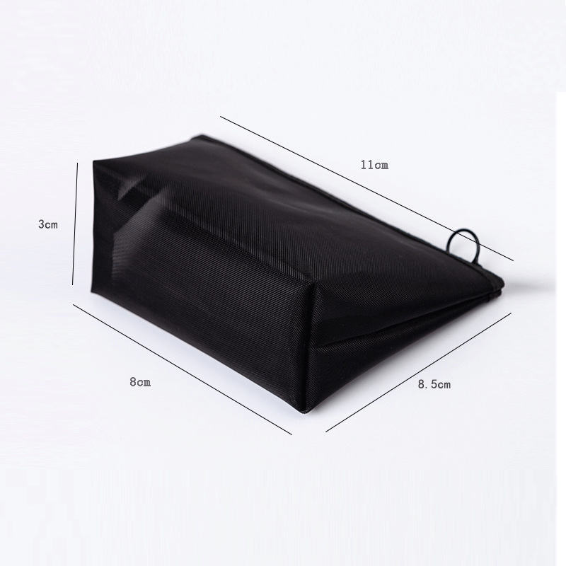 1PCS Women Men Necessary Cosmetic Bag Transparent Travel Organizer Fashion Small Large Black Toiletry Bags Makeup Pouch