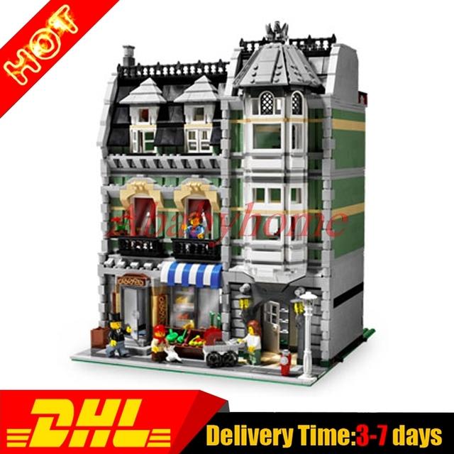 LEPIN 15008 LELE 30005 Calle Creador Verdulería Clon Kit de Construcción Modelo de Juego de Bloques de Ladrillos de Juguete de Regalo 10185