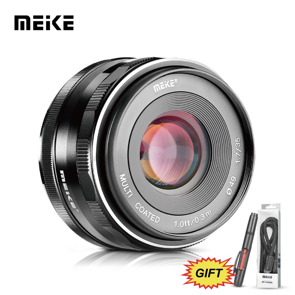 MEKE Meike MK 35 1.7 35mm f1.7 Grote Diafragma Handmatige Focus lens APS C voor Sony NEX3/3N/5/ 5 T/5R/5N/NEX6/7/a5000/a5100/a6000/a6300-in Camcorder Lenzen van Consumentenelektronica op  Groep 1