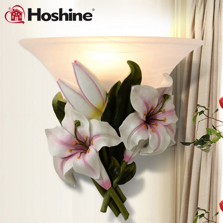 Hoshine Brand New Arrival Lamps for Home Modern Brief Living Room Wall Lamp Bedroom Bedside Lamp Wall Light Lily modern wall lamp bedside lamps wall light bedroom lighting for home decor 110v 220v e14 holder lightings study room hotel hall