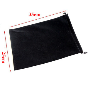 Image 1 - 20pcs/lot Large Big Size 25x35cm Muti colours Drawstring Velvet Bags Pouches Wedding Party Gift Packaging Bag Can Customize Logo