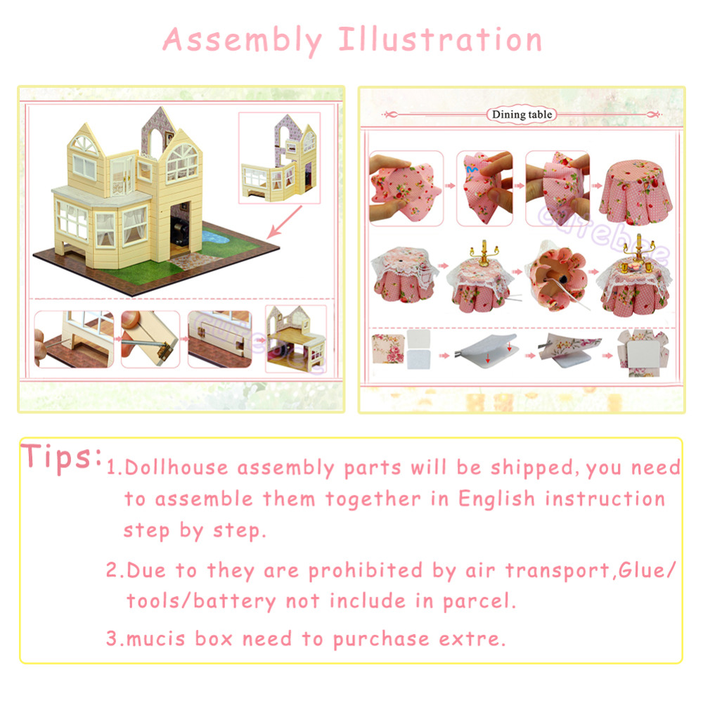 Doll-House-Furniture-Diy-Miniature-Dust-Cover-3D-Wooden-Miniaturas-Dollhouse-Toys-for-Children-Birthday-Gifts-Kitten-Diary-5