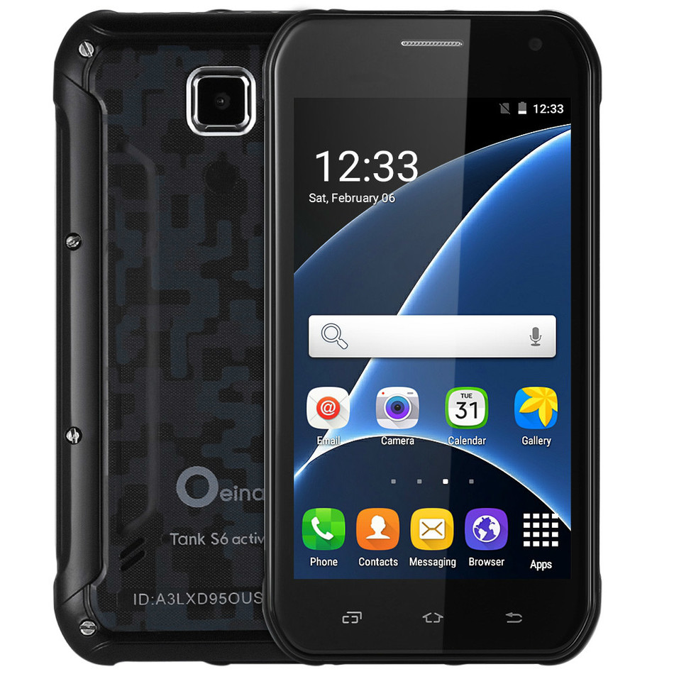 2016 New Original OEINA TankS6 Phone With MTK6580 Android 5 0 3G GPS 5 0 Inch