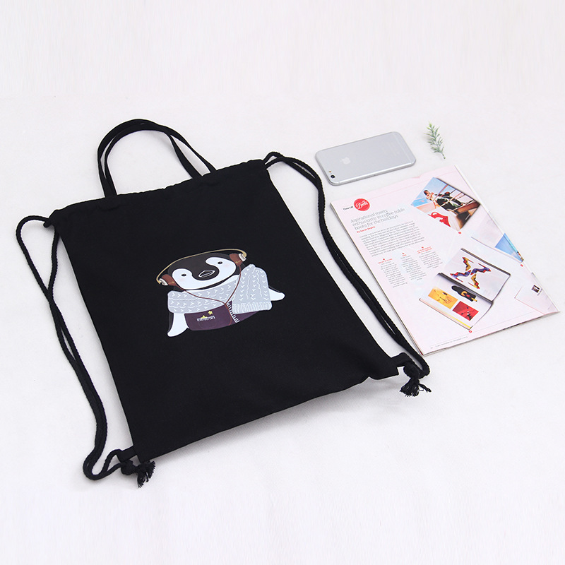 animais sacolas de lona retro Colour : Retro Black Tote