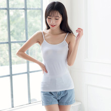 New Fashion Women Sexy Spring Summer Basic Pure Color Cotton Sling Vest Casual Tank Tops Knitting Elasticity
