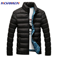Normen Brand Clothing 2016 Newest Men's Solid Parkas Winter Jacket Men Stand Collar Fashion Quality Padded For Men Overcoat