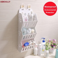 OUSSIRRO Bathroom Countertop racks shelf Cosmetic decorate frame Storage Shelves & Holders Wood plastic waterproof