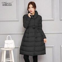 2016 women basic coats popular women winter  coat  warm comfortable long  down Jackets  female outerwear CT199