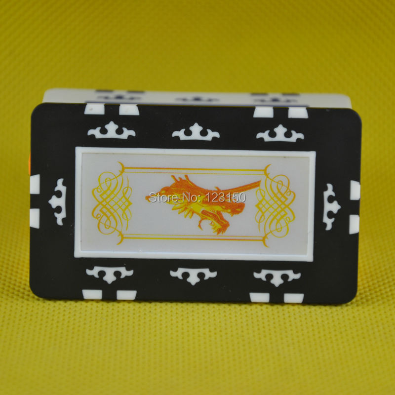 FM-006 Rectangle poker chip, ABS material, No Face Value, Dragon Head, 6Pcs/Lot, Free Shipping