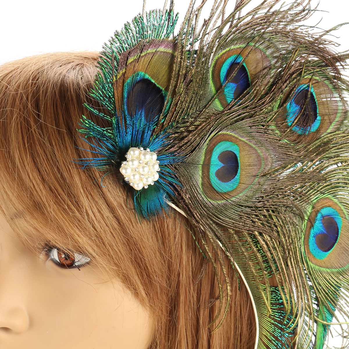 67ccd81ec5cd3 Women Peacock Feather Hair Clip 1920s Headpiece Bridal Wedding Party  Hairwear Vintage Feather Headwear Hairgrips Hair Accessory-in Hair  Accessories from ...