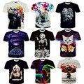 2015 Más Reciente galaxy espacio impreso creativo camiseta 3d hombres camiseta de verano de la novedad 3D feminina psicodélico t-shirt ropa
