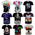 2015 Newest galaxy space printed creative t shirt 3d men's tshirt summer novelty 3D feminina psychedelic tee shirts clothes