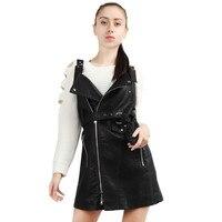 Womail Bayan Zarif Vintage Moda Deri Elbise Kuşaklı Tunik Pinup Ofis Çalışma Giyin Casual Parti Patenci Elbise #30 + 1
