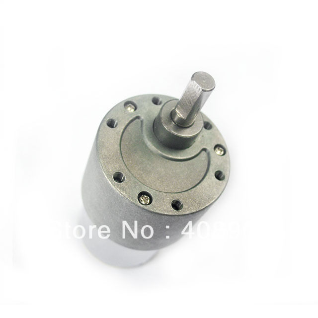 Wholesale - New 12V 37mm 100RPM 6mm diameter shaft Torque Gear Box Electric Motor shaft diameter 6mm x 15mm dc 12v 20 rpm speed 6mm dia shaft magnetic gearbox electric geared motor 37mm x 86mm