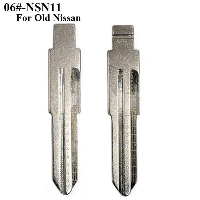 무료 배송 06 #-nsn11 새겨진 라인 키 스케일 깎기 치아 공백, 자동차 키 블레이드